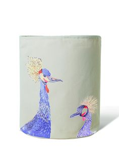 Painted Plumes Crane Laundry Hamper design by imm Living