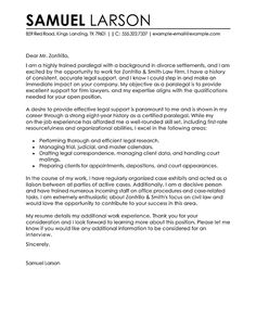 Professional Resume Cover Letter Example Of Paralegal Cover Letter For Job Application Cover