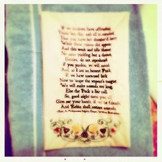 Shakespeare Quote Embroidery by stefaniegk