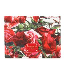DOLCE & GABBANA - Printed leather card case - Dolce & Gabbana's romantic card case comes printed with vivid pink roses on glossy textured leather. Pop yours in your wallet or tote, or carry in hand to coffee breaks. - @ www.mytheresa.com