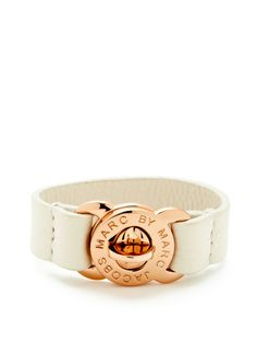 Large Turnlock Leather Bracelet by Marc by Marc Jacobs Jewelry at Gilt