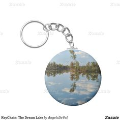 KeyChain: The Dream Lake Basic Round Button Keychain