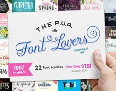 "Check out new work on my @Behance portfolio: ""The PUA Font Lovers Bundle"" http://be.net/gallery/62810593/The-PUA-Font-Lovers-Bundle"
