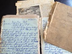 Old cookbooks. Not quite a diary, journal or commonplace book, but they have their similarities. If you pick up an old cookbook you'll often find handwritten notes in the margin and the back, or y...
