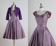 Lilac Monet . vintage 1950s dress . vintage por millstreetvintage