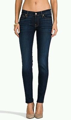 NWT $189 SEVEN 7 FOR ALL MANKIND The SKINNY Stretch Jeans LA VERNA LAKE blue 31