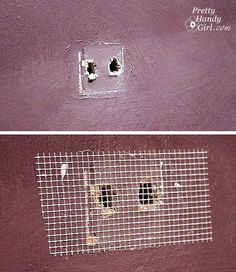 Painting Like a Pro - How to repair holes, and wall imperfections (step 1).