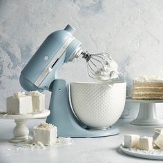 KitchenAid® Limited Edition Heritage Artisan Model K St.- KitchenAid® Limited Edition Heritage Artisan Model K Stand Mixer with Ceramic Hobnail Bowl - Williams Sonoma, Kitchenaid Artisan, Kitchenaid Stand Mixer, Kitchenaid Mixer Colors, Kitchen Gadgets, Kitchen Appliances, Kitchen Cabinets, Light Blue Kitchens, Kitchen Decor