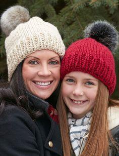 Yarnspirations.com - Bernat Family Hats - Patterns   Yarnspirations   Beginner Knit hat