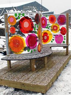 Denbigh Primary, North Shields-Seating Pod In Snow