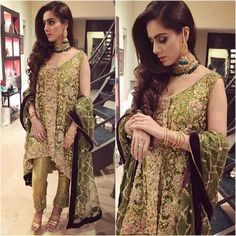 Bridal dress in parrot green color for nikah bride with heavy dabka nagh and crystals work Model 1117 Pakistani Wedding Outfits, Bridal Outfits, Pakistani Dresses, Nikkah Dress, Pakistani Clothing, Indian Outfits, Red Lehenga, Lehenga Choli, Sabyasachi