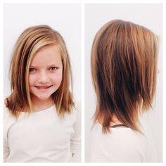 Medium length hair cut for little girl