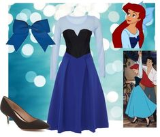 Ariel cosplay for Halloween. Disney's Little Mermaid blue dress costume. Fashion created by jwalkasha on polyvore.com - COSPLAY IS BAEEE!!! Tap the pin now to grab yourself some BAE Cosplay leggings and shirts! From super hero fitness leggings, super hero fitness shirts, and so much more that wil make you say YASSS!!!
