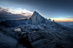 Mount Kinabalu at Sunrise. http://www.flickr.com/photos/royaltech/3741796887/
