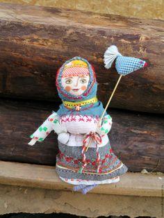 Купить Радость.народная кукла с птицей.подарок женщине.украшение дома дачи - народная кукла