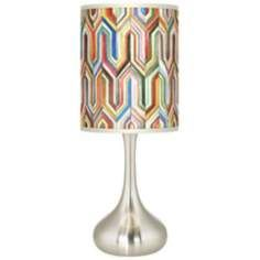 So pretty!  Synthesis Giclee Kiss Table Lamp