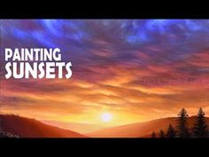Super ideas for simple landscape paintings acrylic sky Acrylic Painting For Beginners, Acrylic Painting Techniques, Step By Step Painting, Beginner Painting, Painting Videos, Free Art Prints, Sunset Landscape, Landscape Paintings, Simple