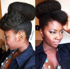 Idées Coupe cheveux Pour Femme  2017 / 2018   29 big bun for natural hair