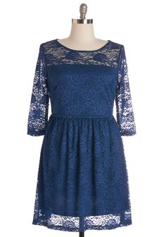 Style Savant Dress in Plus Size. Since you were a child, youve had special style skills, and youre continuing to make strides in this sea-blue lace dress! #blue #modcloth