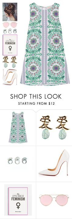 """Karen"" by brie-the-pixie ❤ liked on Polyvore featuring Tory Burch, Christian Louboutin, Topshop and LMNT"
