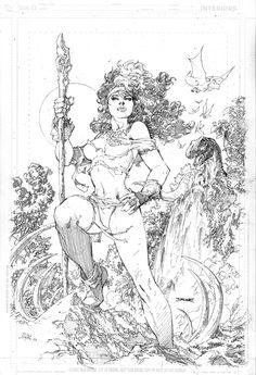 Jim Lee Original Comic Art X-Men Rogue in the Savage Land Comic Book Artists, Comic Book Characters, Comic Artist, Comic Books Art, Red Sonja, X Men, Ninja, Jim Lee Art, Drawing Superheroes