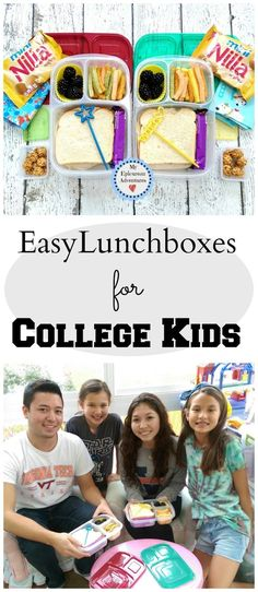 EasyLunchboxes Lunches for College Kids, lunch box ideas, lunch box fun @easylunchboxes