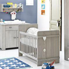 Babykamer Hopper Grijs - Ledikant - Commode - Kast | Babypark
