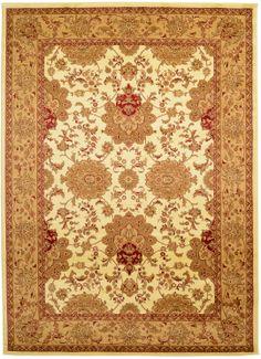 Ivory 8' 2 x 11' 6 Isfahan Rug | Area Rugs | eSaleRugs