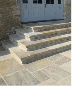 York Stone steps and courtyard