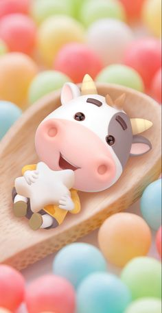 Cow Wallpaper, Cute Patterns Wallpaper, Cute Disney Wallpaper, Cute Cartoon Wallpapers, Wallpaper Iphone Cute, Aesthetic Iphone Wallpaper, Animated Cow, Year Of The Cow, Chinese New Year Images