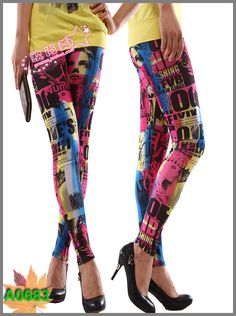 2013 summer fashion tights hot rock jeggings  $8.58
