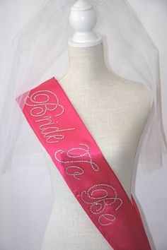 4 Disney Font Bride To Be Sash Bachelorette Party Bridal Wedding Hot Pink Black Sewn Ends Thicker On Etsy