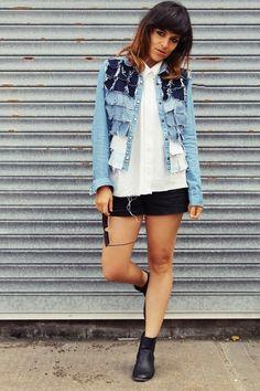 DIY Idea - restyling a jean jacket volánky ale jinak....