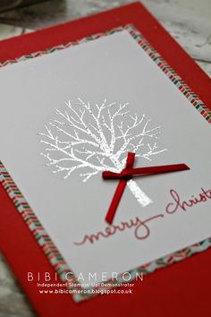 Bibi Cameron : Sheltering Tree + Endless Wishes Stampin up ♥ Christmas Card Independent UK Stampin' Up! Demonstrator Bibi Cameron: Sheltering Tree + Endless Wishes Stampin up ♥ Christmas Card Christmas Cards 2017, Stamped Christmas Cards, Homemade Christmas Cards, Xmas Cards, Homemade Cards, Holiday Cards, Winter Cards, Christmas Ideas, Handmade Christmas Greeting Cards