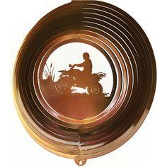 """12"""" Four Wheeler - Copper Starlight Wind Spinner. #windspinner #4wheeler #fourwheeler"""