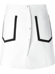 contrast trim skirt $609 #farfetch #shopping #kenzo