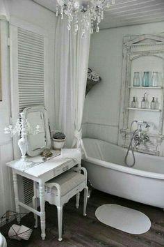 Shabby chic inspired bathroom                                                                                                                                                                                 More