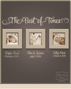 The Best of Times... vinyl wall quote por PersnicketyWallVinyl