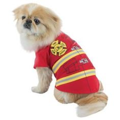 Gotta love a pup in uniform & this one's on fire – PetSmart $7.99