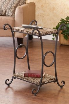 Animal Print Leopard Accent Table by Traditional Loft Style on @HauteLook