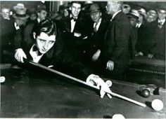 6th Annual Straight Pool Hall of Fame Nominees: Final Qualifiers for the World 14.1Tomorrow - http://thepoolscene.com/?p=20520 - Willie Mosconi - Straight Pool 14.1 Rotation