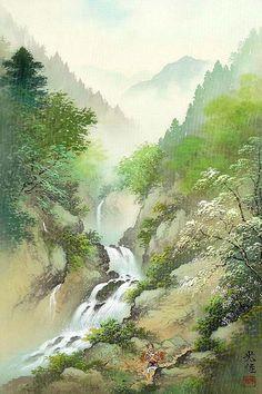 Koukei Kojima. Весенний водопад