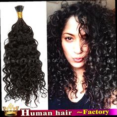 "52.98$  Watch here - http://alimw2.worldwells.pw/go.php?t=32592670590 - ""1g/s 100g Brazilian VirginHair Keratin I Tip Nail Hair Extension Fusion Pre-bonded Remy HumanHair 14""""-30"""" Curly 1 Natural black"""
