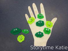 Flannel Friday: All The Little Germs – storytime katie Flannel Board Stories, Felt Board Stories, Felt Stories, Flannel Boards, Germ Crafts, Preschool Science, Preschool Ideas, Manners Preschool, Body Preschool