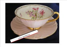FREE SHIPPING Shelley Oleander Teacup and Saucer by TheTeacupAttic, $159.99