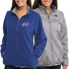 Women's Buffalo Bills Nike Gray Logo Mid V-Neck Performance T-Shirt