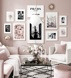Gallery Wall Inspiration - Shop your Gallery Wall - Posterstore. Black And White Posters, Black White, Inspiration Wall, My New Room, Room Decor Bedroom, Bedroom Ideas, Apartment Living, Home And Living, Small Living Rooms