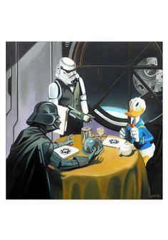 Donald Duck Meets Star Wars - Fine Art Print Posters