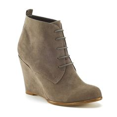 Bottines compensées taupe La Redoute €16 Wedge Ankle Boots, Wedge Heels, Taupe, Sneakers, Wedges, Marley Rose, Shoes, Black, Architecture