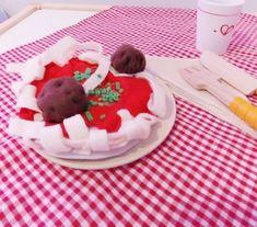Pasta and Meatballs Felt Food, Play Food, Handmade Felt, Pasta Recipes, Dishes, Desserts, Etsy, Tailgate Desserts, Deserts